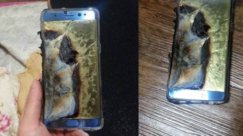 Samsung Galaxy Note 7 сгорел